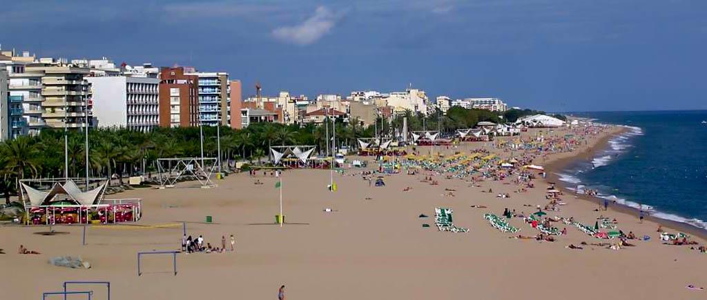 Der Strand von Calella