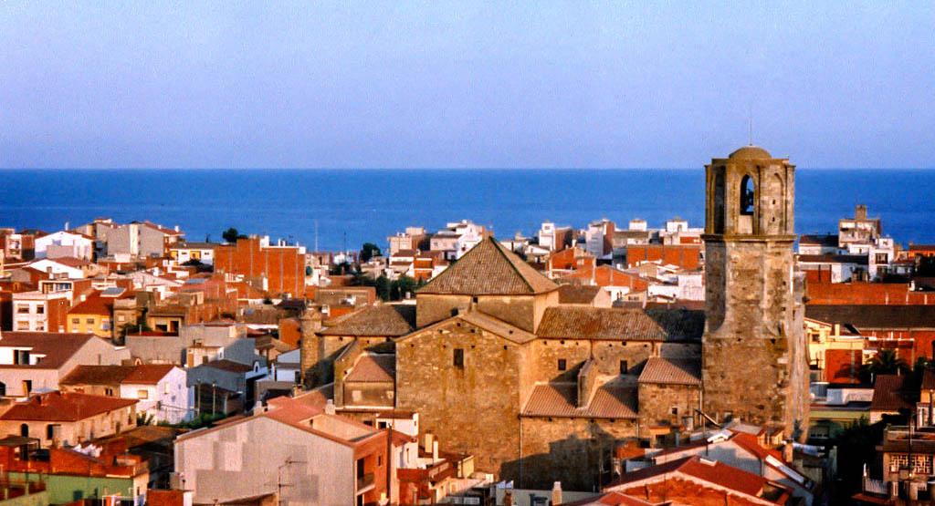 Blick über Malgrat de Mar