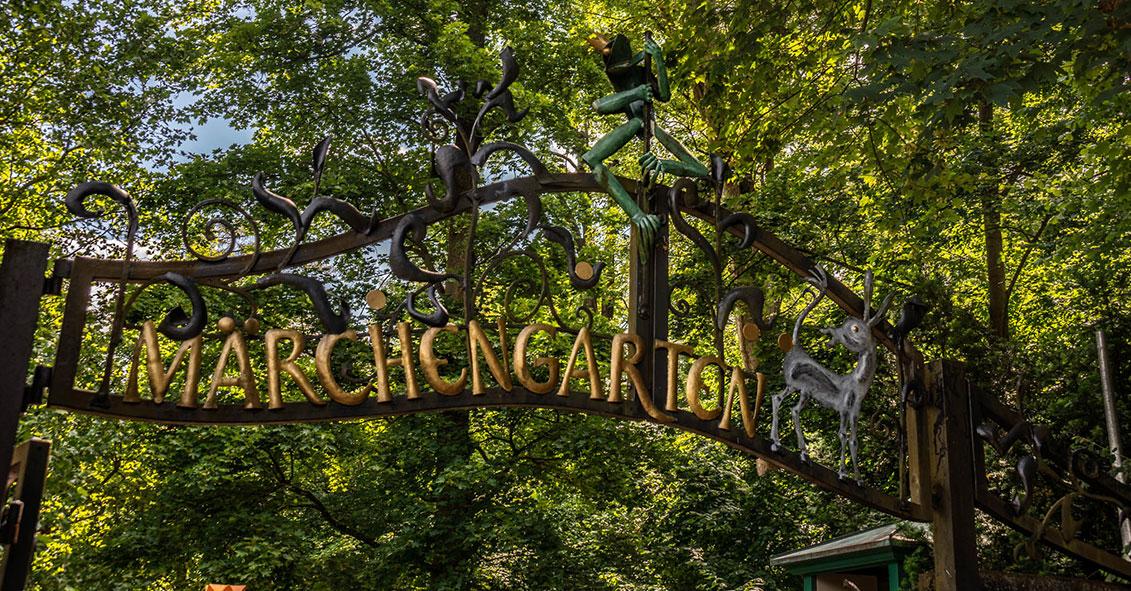 Eingang in den Märchengarten im Blühenden Barock Ludwidgsburg