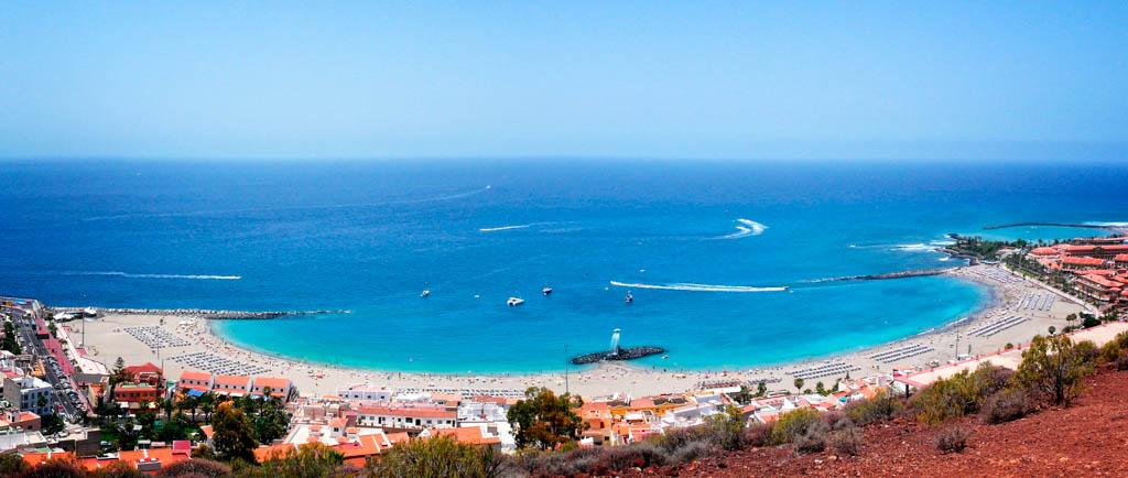 Playa de Las Vistas von oben