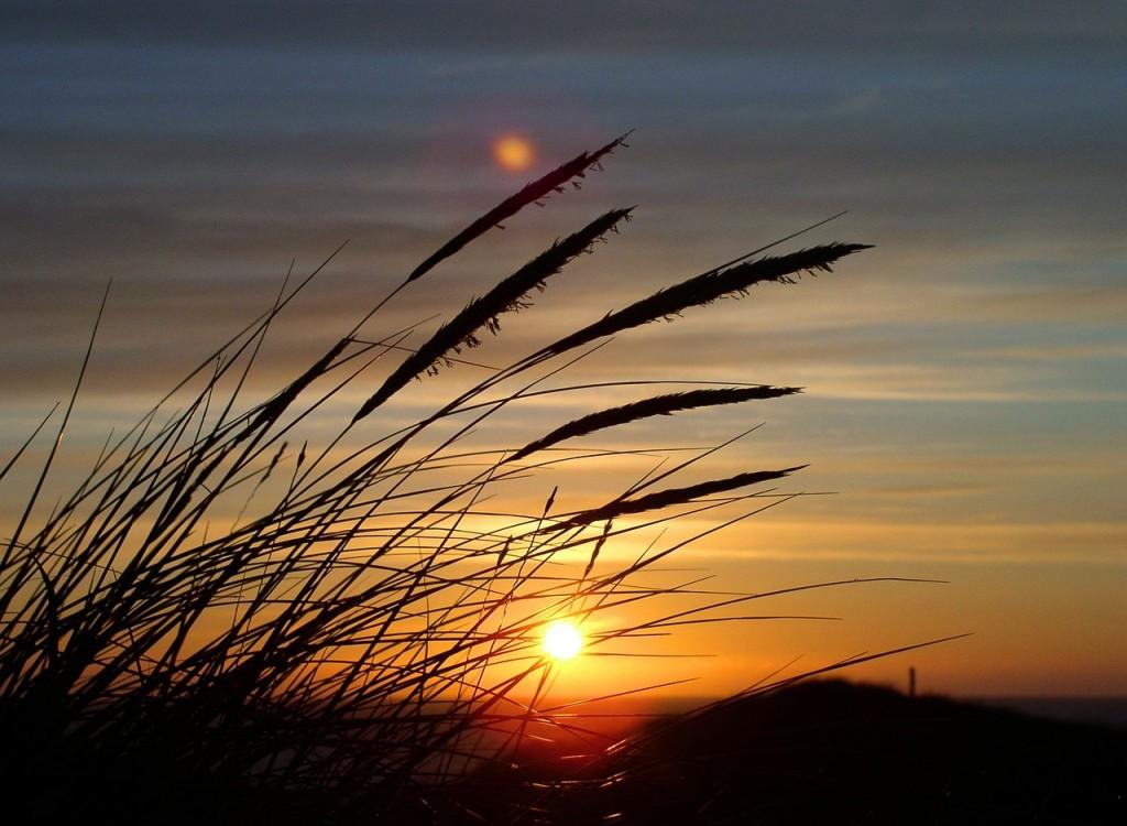 Aktivurlauber müssen nicht auf Romantik verzichten. Fahrradtouren können auch bei idyllischen Sonnenuntergängen in Dänemarks Dünenlandschaft ausklingen.