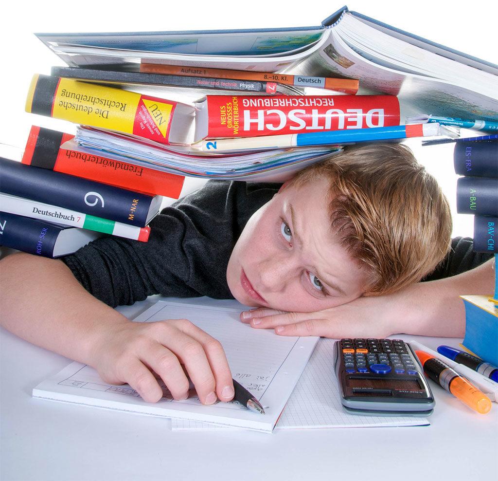Schuldruck und Hausaufgabenstress
